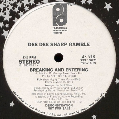 Dee Dee Sharp Gamble - Breaking & Entering (Cyclist Edit)