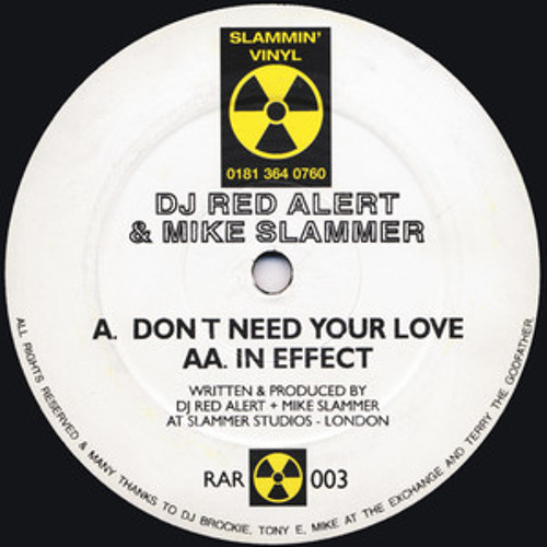 DJ Red Alert & Mike Slammer - Don't Need Your Love