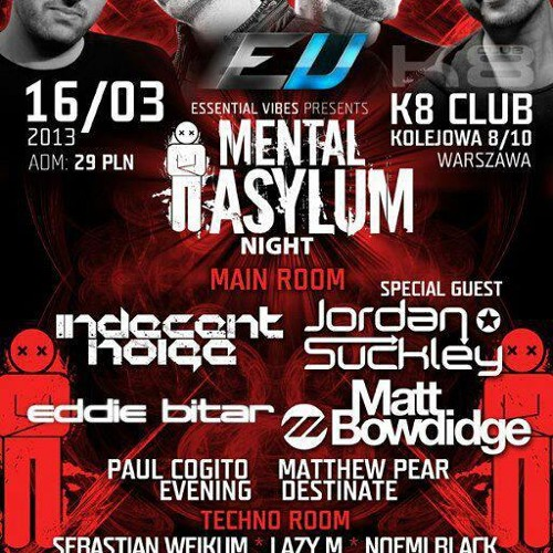 Eddie Bitar - Live at Mental Asylum - Poland - Warsaw - 16.03.13