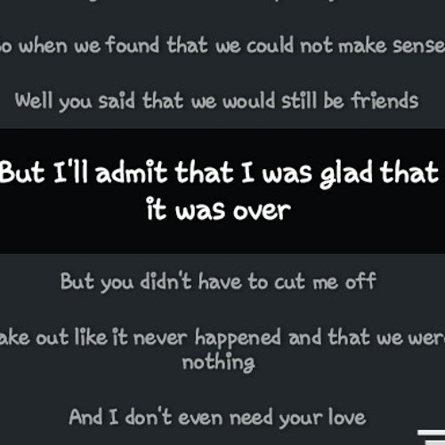 somebody that I used to know - mayday parade (band cover) my fave for this day :)