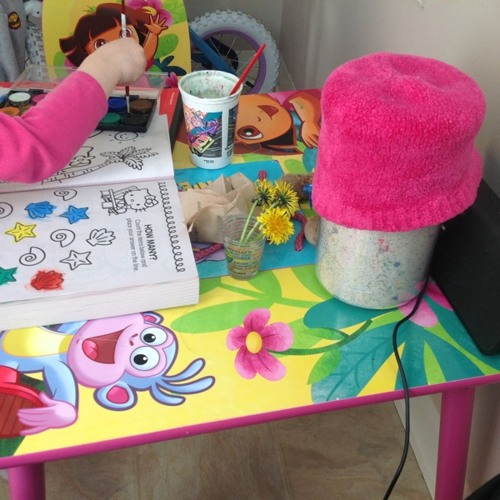 Dora and Boots at Dora's Table