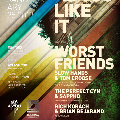 Worst Friends at As You Like It, San Francisco, CA 01.25.13