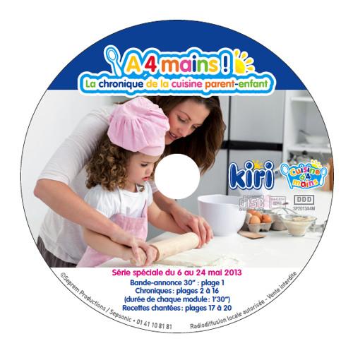 """DP Sonore """"A 4 mains ! La chronique de la cuisine parent-enfant"""" - avec Kiri (recette chantée)"""