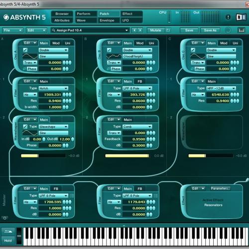 Absynth - Sunday Night Sound Design. (Assign Pad 10.4)