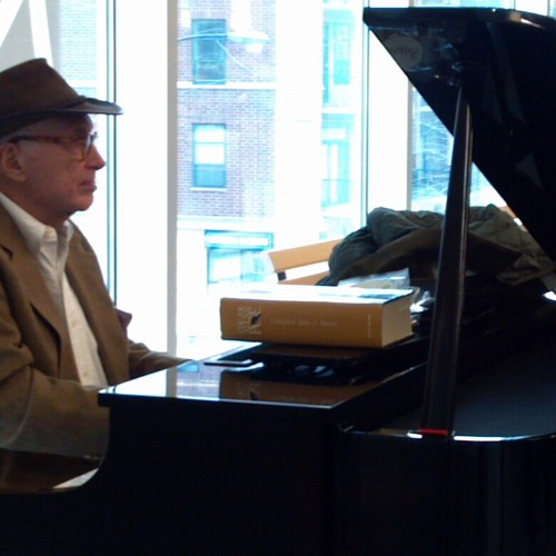 Piano Player In A Noisy Grocery Store