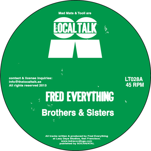 Fred Everything - Brothers & Sisters (PM Atlantic) (LT028, Side A)