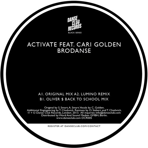 DCR005 - Brodanse - Activate feat. Cari Golden