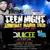 RADIO AD - Rise Teen Night w/ DJ Lil Cee Spring Break Easter 3.28.13