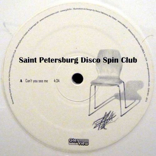 """GVR1001 — Saint Petersburg Disco Spin Club — Can't You See Me ivory white 10"""""""
