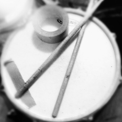 Practicing Drums