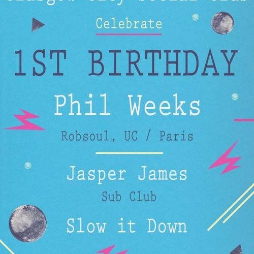 Phil Weeks @ G.C.S.C 1st Birthday - Saint Judes/Glasgow