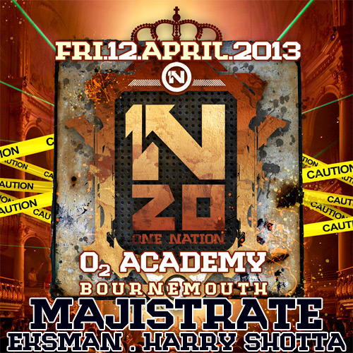 Majistrate with Eksman and Harry Shotta from One Nation Bournemouth Aug 2012