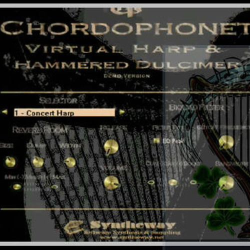 Chordophonet Virtual Celtic Harp & Syntheway Strings VST: Irish Folk Song Demo