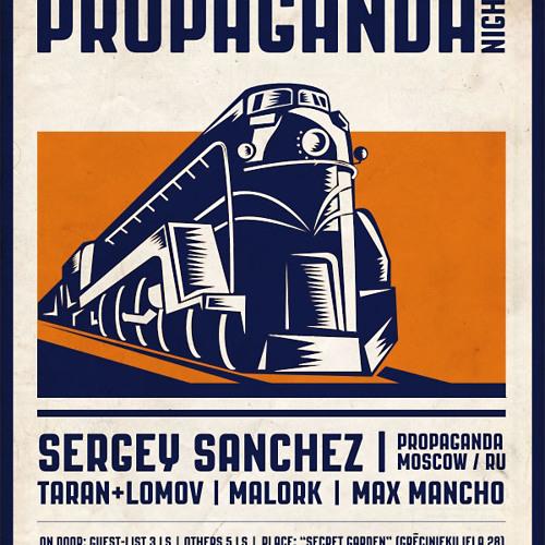 Sergey Sanchez set at Amber Muse Propaganda Night, Riga, 16 Feb 2013