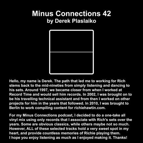 Minus Connections April 2013 - Derek Plaslaiko
