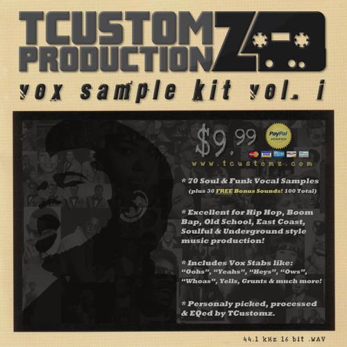 TCustomz Productionz Vox Sample Kit Vol. 1 (Funk & Soul Vocal Samples | www.TCustomz.com)