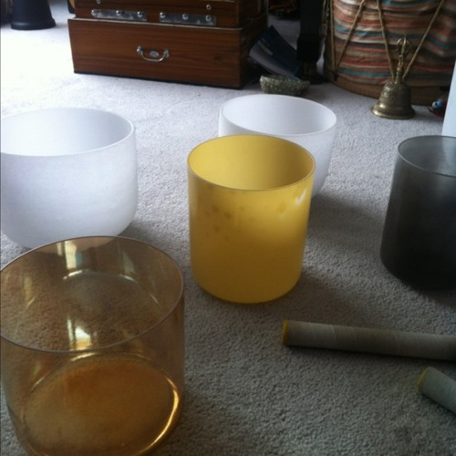 Crystal bowls - timeless corridor