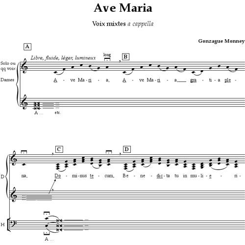 Gonzague Monney (CH, *1981) : Ave Maria