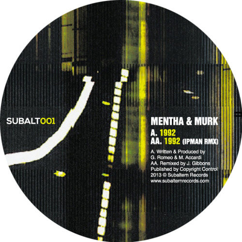 SUBALT001 - Mentha & Murk - 1992