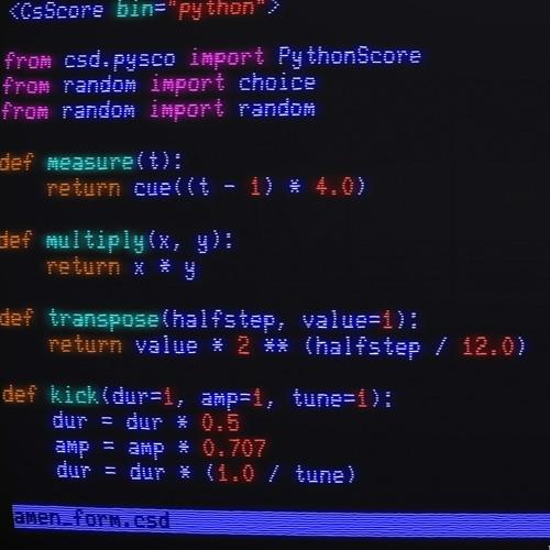 Amen Break PythonScore Tutorial - form