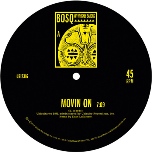 "BOSQ ""MOVIN' ON b/w KEEP MOVIN' 12"""" Preview"