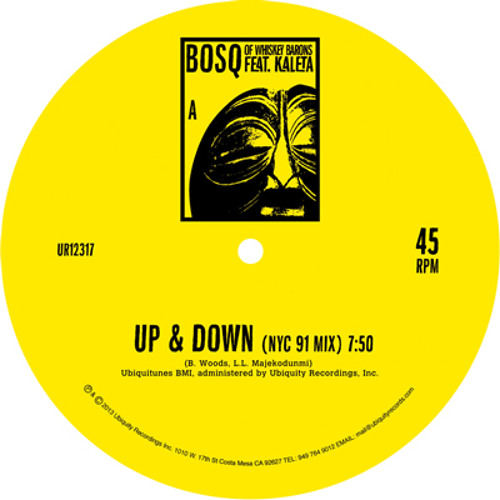 "BOSQ Feat. Kaleta ""UP & DOWN 12"""" Preview"
