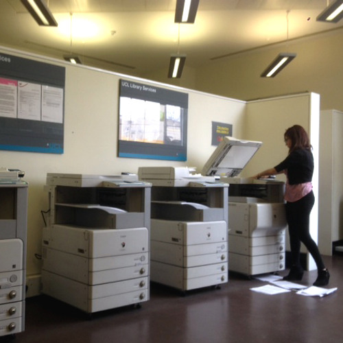 Sounds of UCL: Inside the tray of the Library photocopier