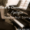 Back to December/Apologize/You're Not Sorry (Piano Cover) - Taylor Swift from the