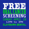 FREE Oral Cancer Screenings Apr 28 Country 107.1 Ad