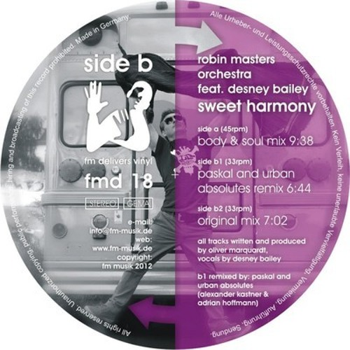 Robin Masters Orchestra feat. Desney - Sweet Harmony (all Mixes )