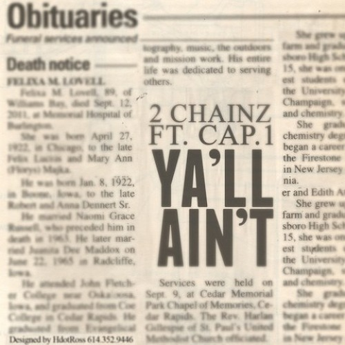 2 Chainz - Y'all Ain't (Feat. Cap 1)