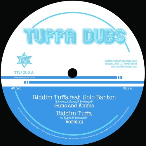 "TFD006 Riddim Tuffa feat. Solo Banton, Diegojah & OBF - 12"" vinyl / digital (Promomix)"