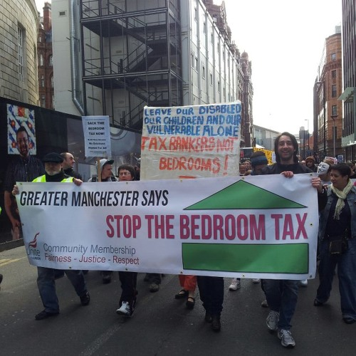 Bedroom Tax protest, Manchester. Michelle