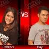 Rebecca VS Bayu - Panah Asmara - The Voice Indonesia - Battle Round 3