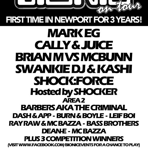 Bionic Tour in Newport Sat May 4th - DJ Competition Entry - Prox DJ