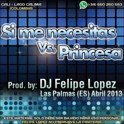REGGAETON MIX IV (Si me necesitas vs. Princesa) - DJ Felipe Lopez