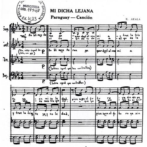 MI DICHA LEJANA - Tenores