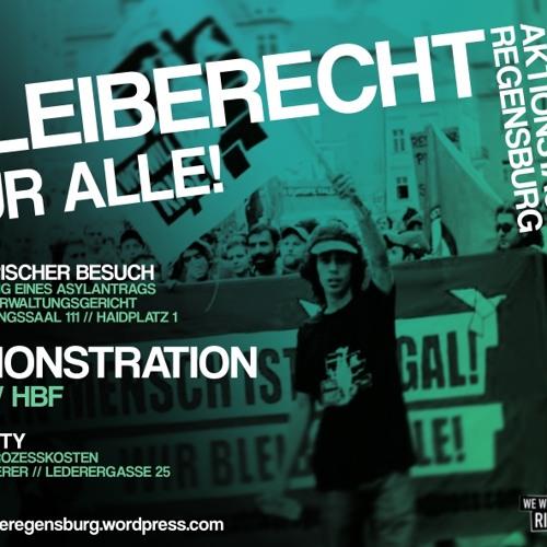 Jingle - Bleiberecht für Alle - 30.04.2013 - Aktionstag in Regensburg