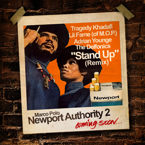 "Marco Polo f/ Tragedy, Lil Fame (of. M.O.P.), Adrian Younge & The Delfonics ""Stand Up"" (Remix)"