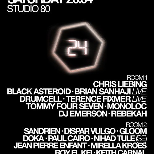 DJ Emerson @ Studio 80 Amsterdam 2nd Part 4-20-2013