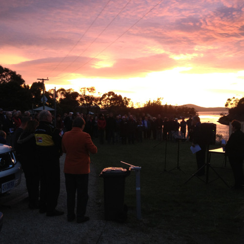 Anzac Day dawn service reflections from Dunalley