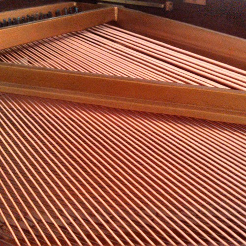 New piano strings
