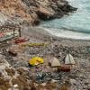 Sounds of the Sea - Greece, stones on the beach, big waves