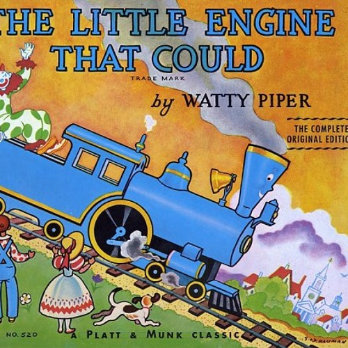 """Sara Grady, 33, reads from """"The Little Engine that Could."""""""
