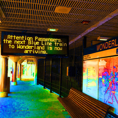 Frank Oglesby - Attention Passengers, the next Blue Line train to Wonderland is now arriving.