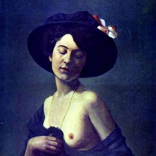 Óleo de mujer con sombrero