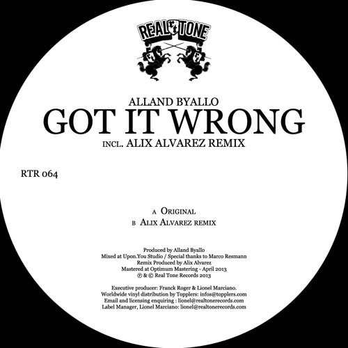 Alland Byallo - Got it Wrong (Alix Alvarez Remix)