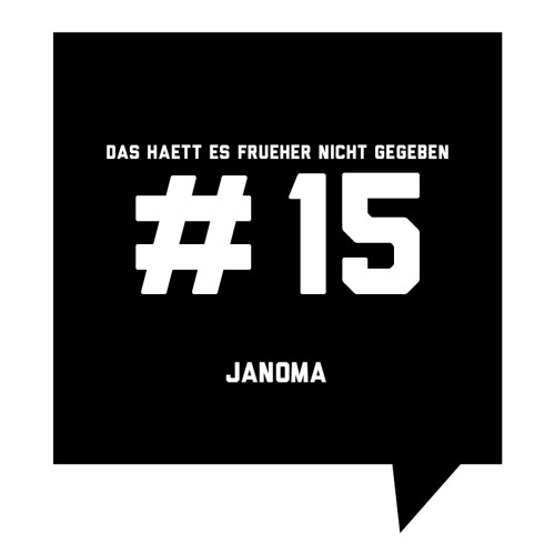 Das haett es frueher nicht gegeben #15: Janoma