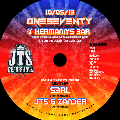 OneSeventy 3.0 Promo Mixed by S3RL, JTS & Zander // FREE DOWNLOAD