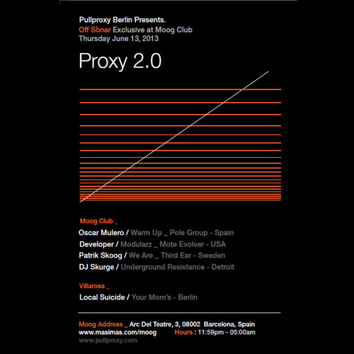 PullProxy Berlin presents: Proxy 2.0 at Moog (BCN) on June 13th